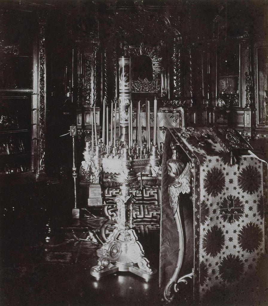 Часовня в домике Петра I. 1872