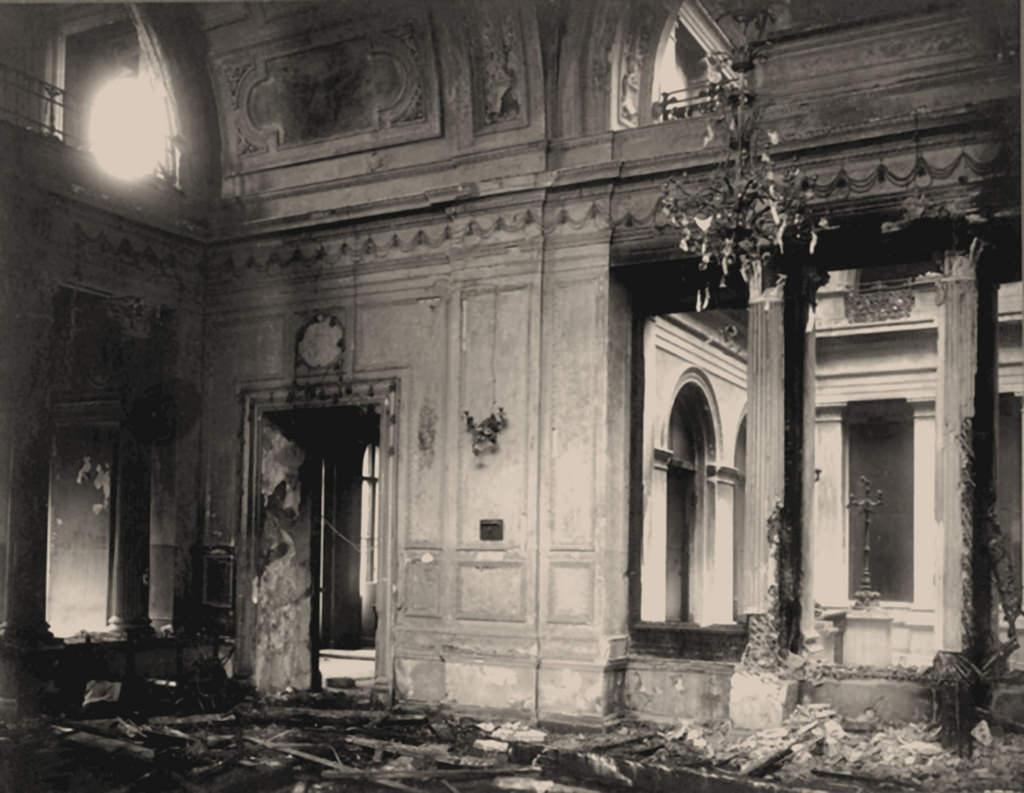 Столовая Зимнего дворца после взрыва, вечер 17 февраля 1880 года