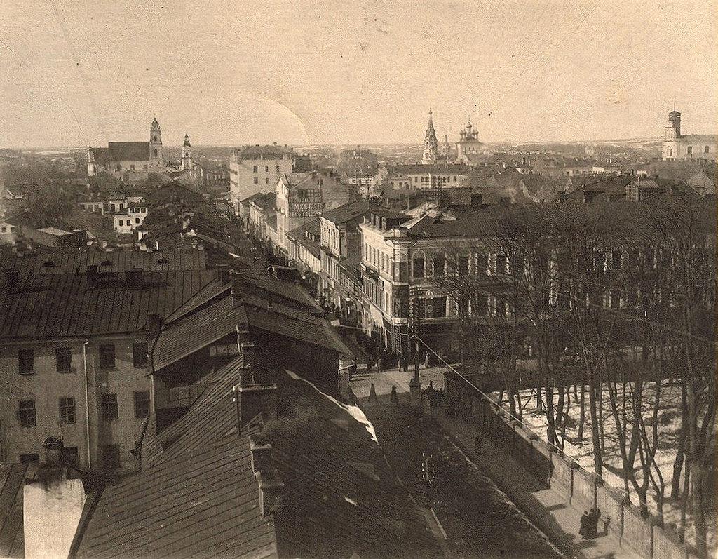 Панорама со здания почты