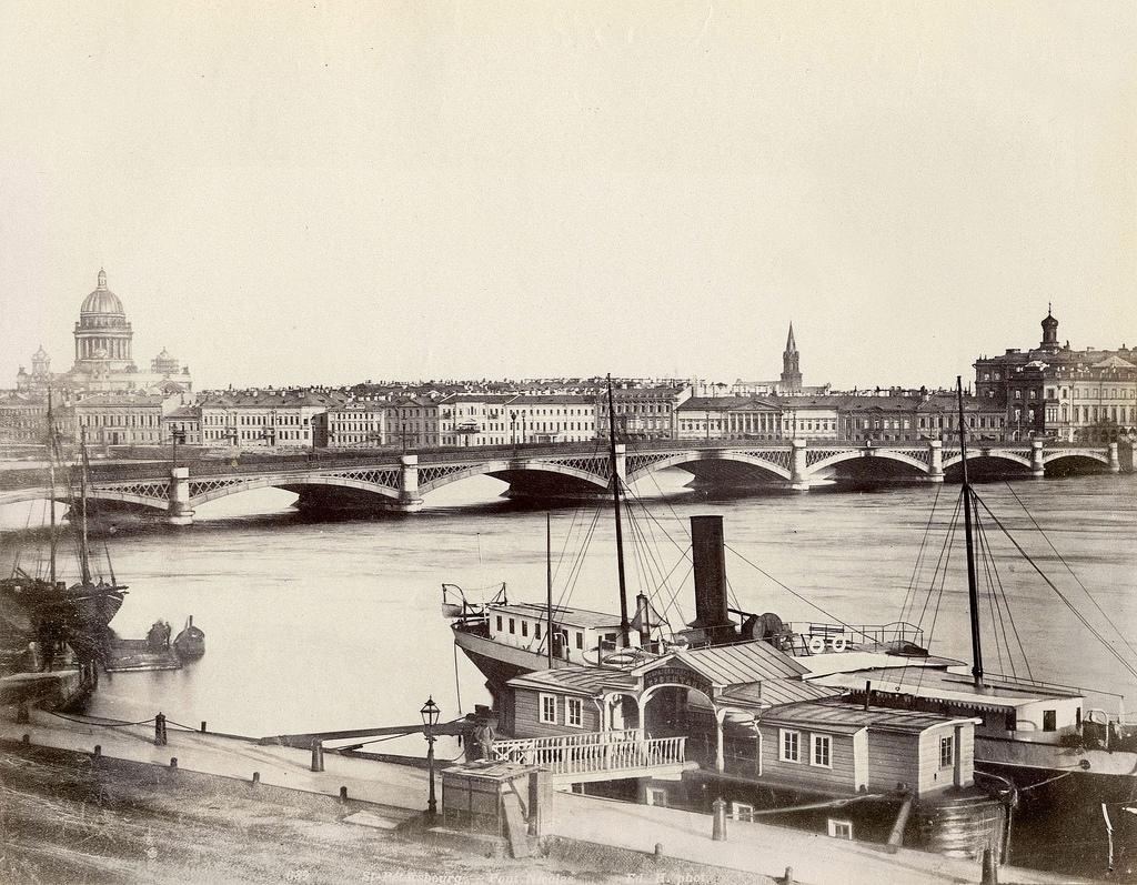 Вид на Неву и Николаевский мост. 1880-е