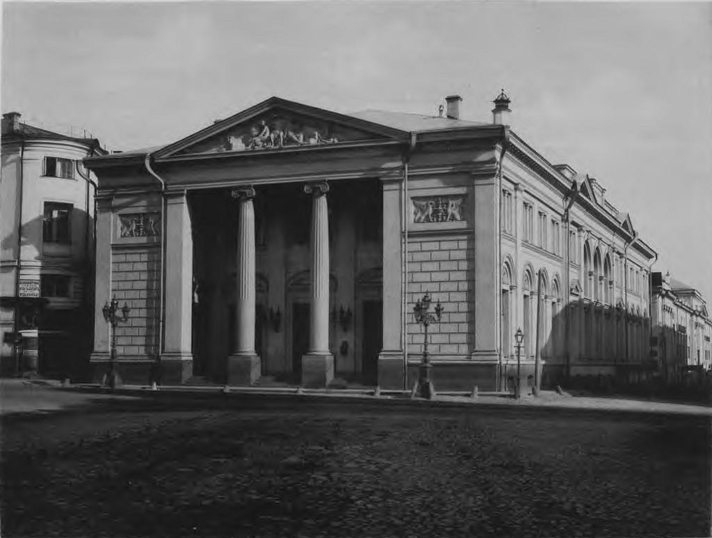 Московская биржа. Вид главного фасада