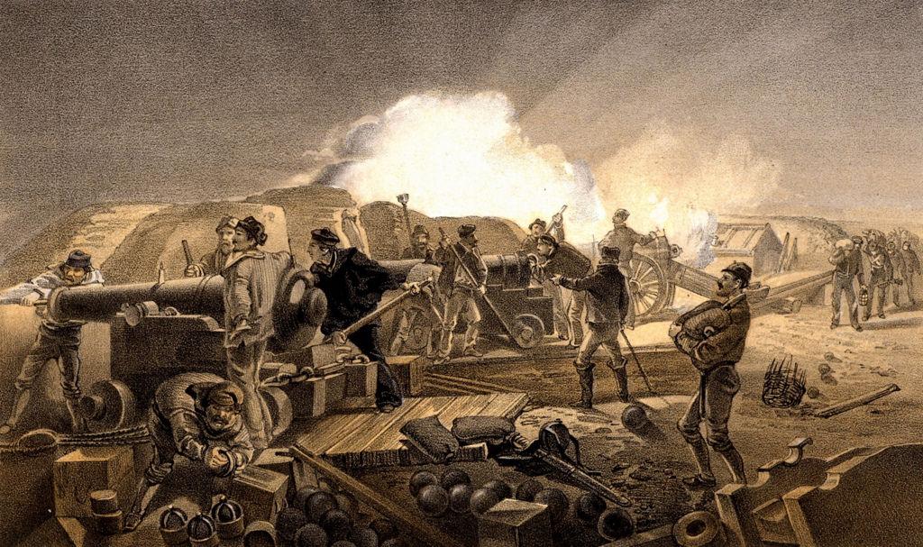 «Жаркая ночь на британской артиллерийской батарее»