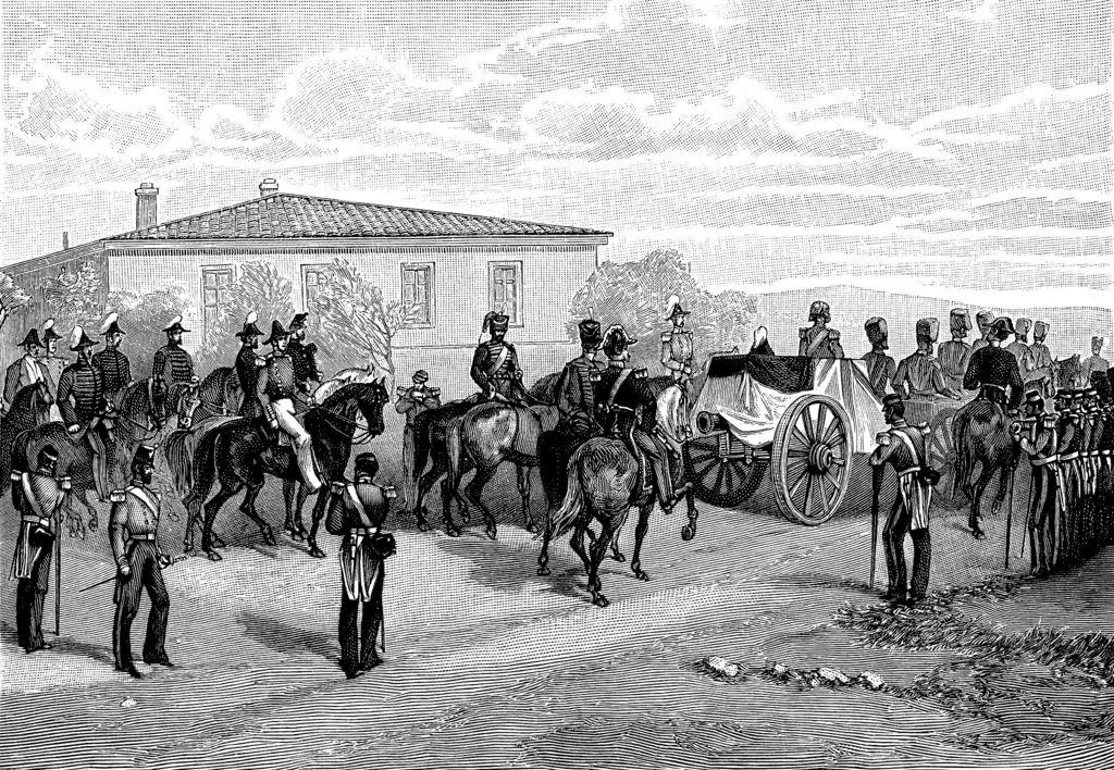 Проводы гроба с телом лорда Раглана на борт корабля «Caradoc» 3 июля 1855 года