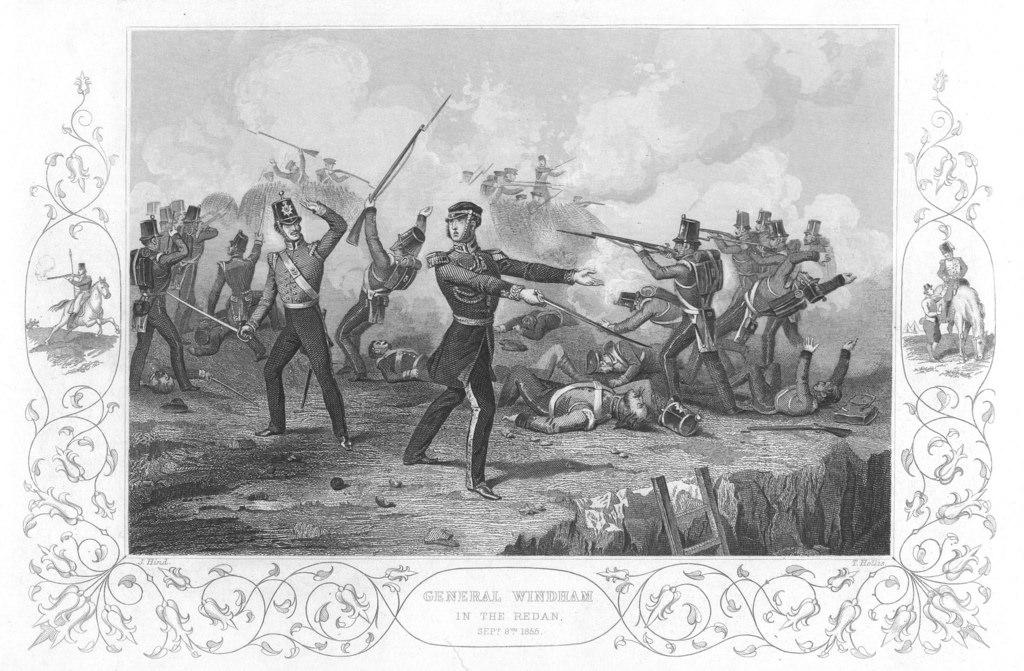 Английский генерал Чарльз Виндхэм первым вступает на Большой Редан - одно из центральных русских укреплений Севастополя. 8 сентября 1855