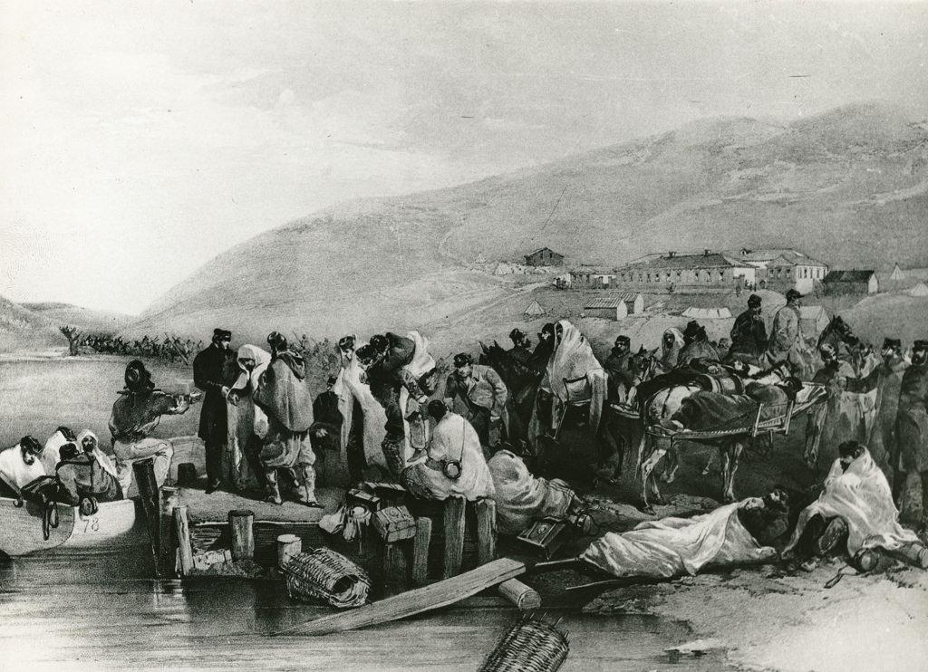 Эвакуация раненых британских солдат и беженцев