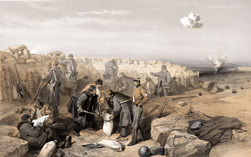 Русские окопы (ныне часть британских передовых позиций на левом фланге артиллерийской батареи Гордона