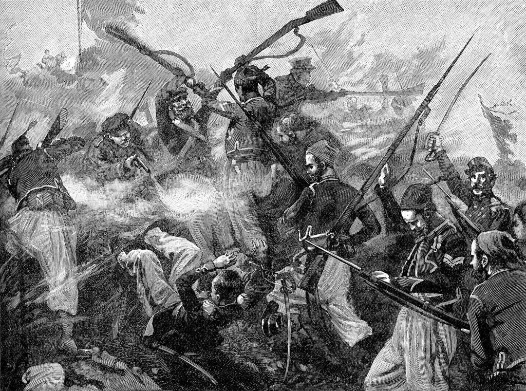 27 августа (8 сентября) после усиленной артподготовки в полдень союзники бросились на штурм руин бастионов Малахова кургана и встретили серьёзное сопротивление русских. Через полчаса французы овладели Малаховым курганом