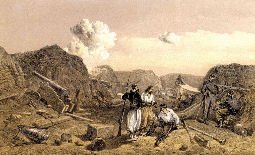 Французские войска на Малаховом кургане после падения Севастополя