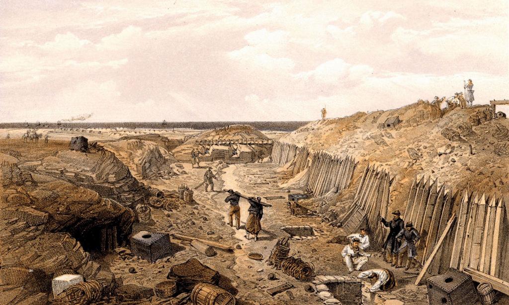 Французские войска на Бастионе Дю-Мат после падения Севастополя