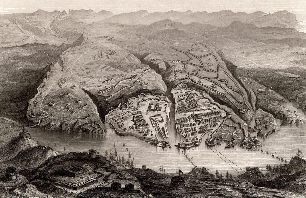 План гавани и города Севастополя