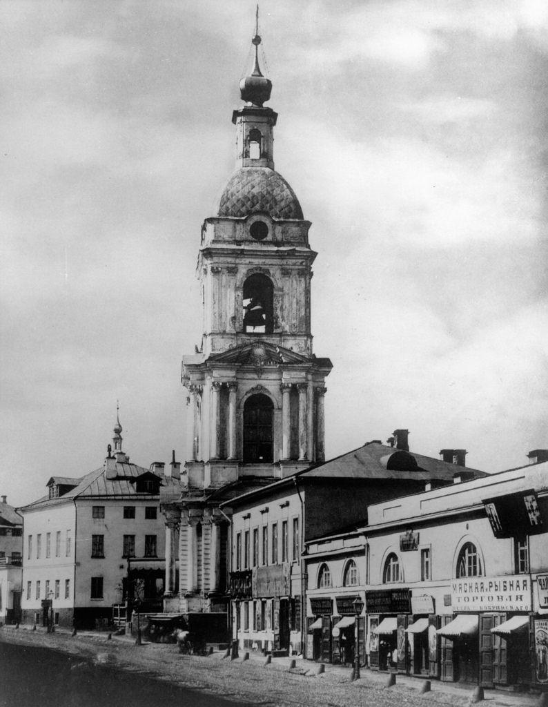 Колокольня церкви Троицы в Серебряниках. 1882