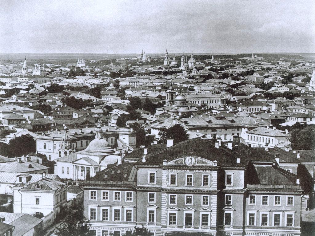 Фрагмент панорамы с храма Христа Спасителя. 1867
