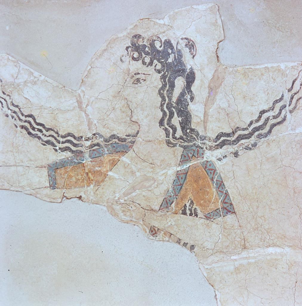 Танцовщица из Мегарона царицы (фрагмент)