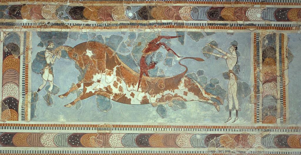 Прыжок через быка (фрагмент)