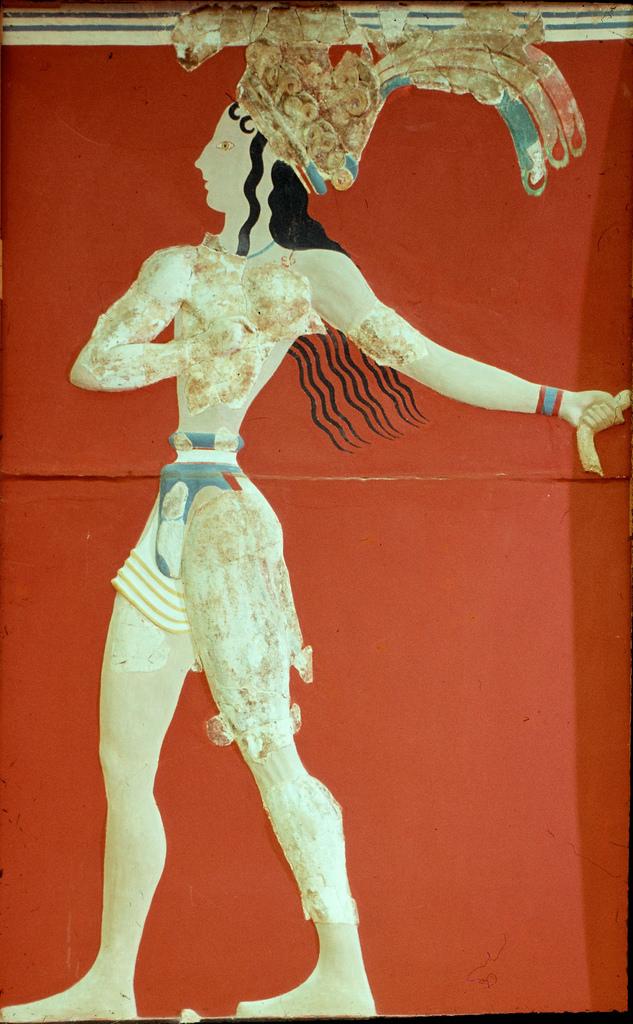Так называемый принц с короной перьев (фрагмент)
