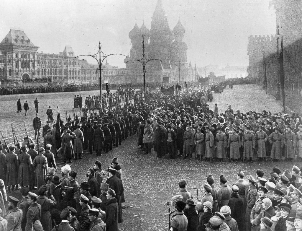 1918. Военный парад на Красной площади