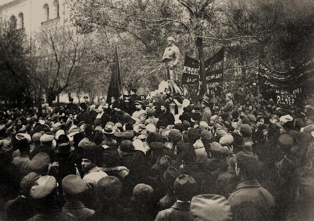 1918. Открытие памятника Робеспьеру в Москве 3 ноября