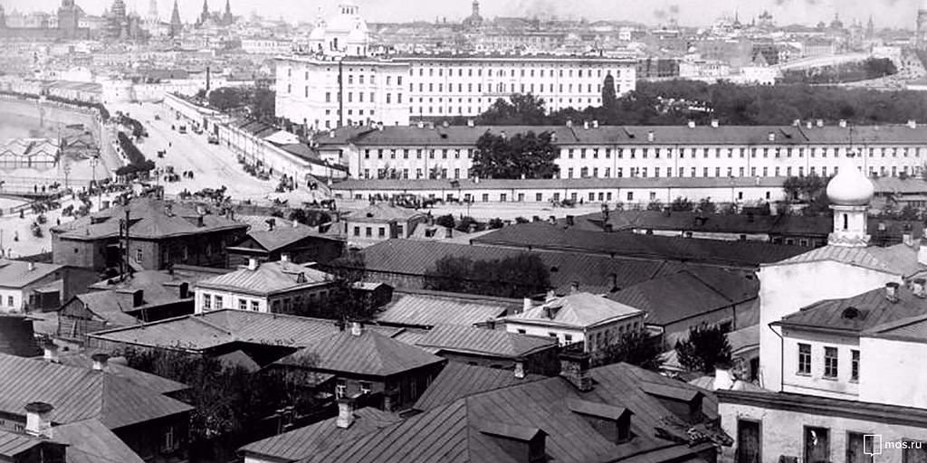 Панорама Москвы в сторону Воспитательного дома
