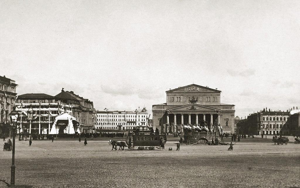 Театральная площадь во время коронации императора Николая II
