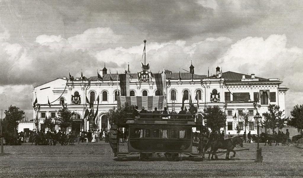 Ярославский вокзал в дни коронации императора Николая II