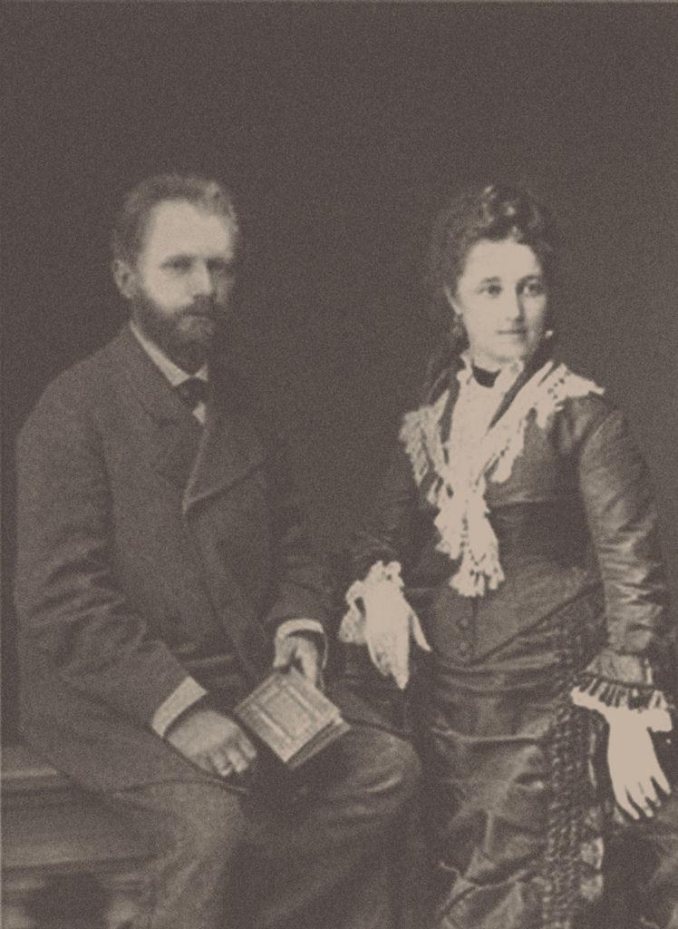 1877. Композитор Петр Ильич Чайковский (1840-1893) с женой Антониной Ивановной Милюковой