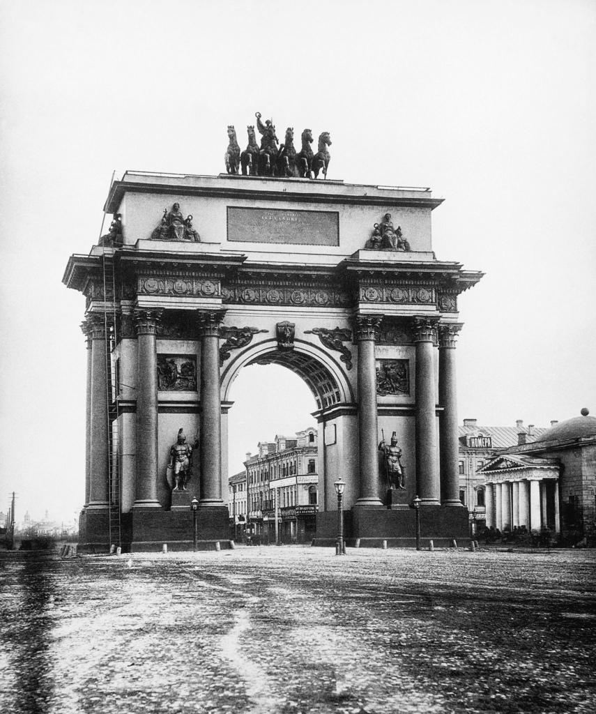 Триумфальная арка на площади Тверской заставы. 1884