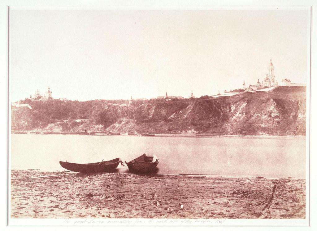 Киево-Печерская лавра с северного берега Днепра