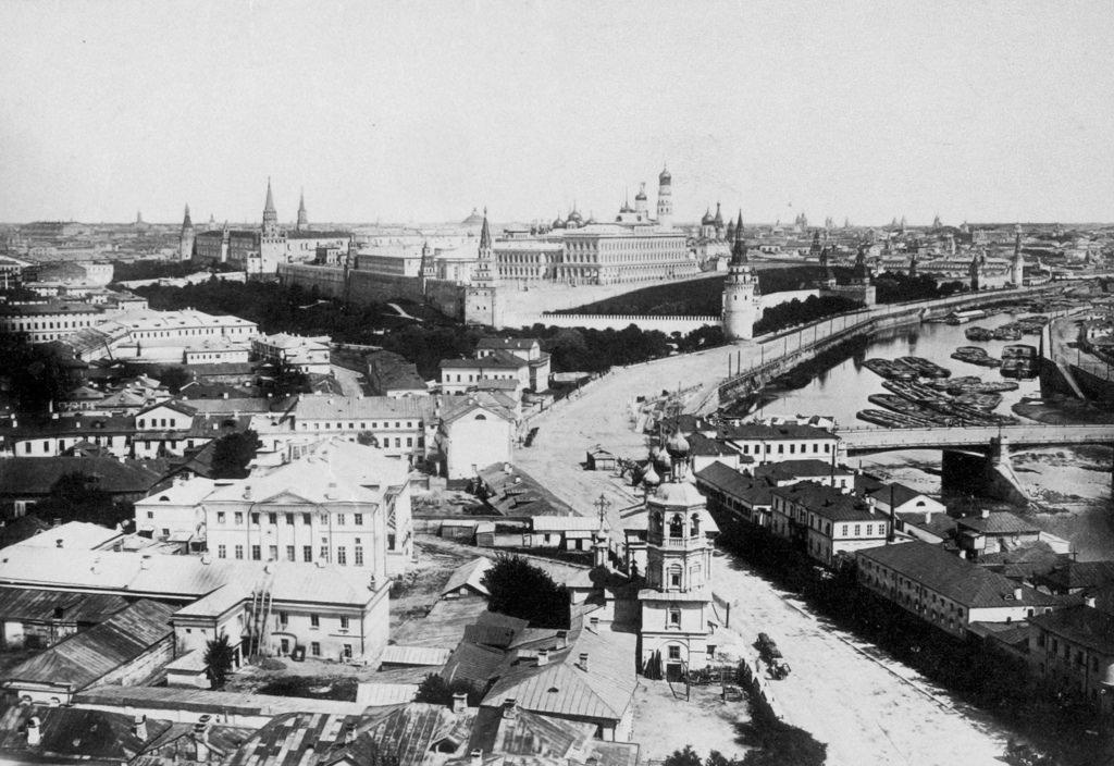 Вид с Храма Христа Спасителя. 1870-е