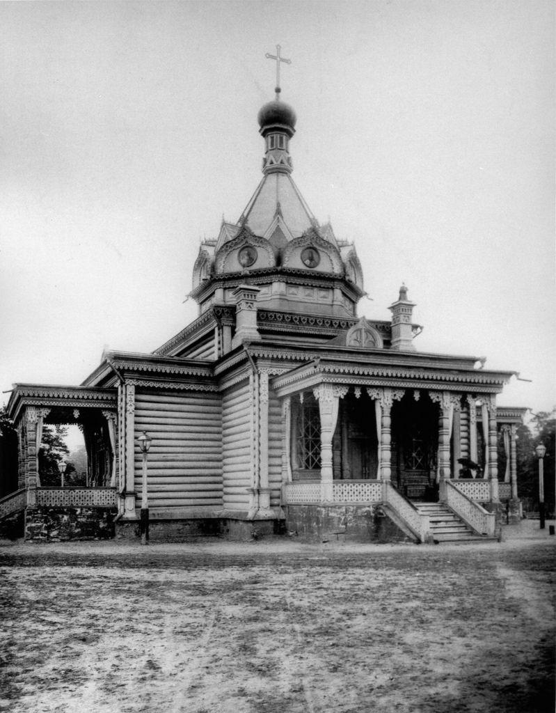 Деревянная церковь Тихона Задонского в Сокольниках. 1891
