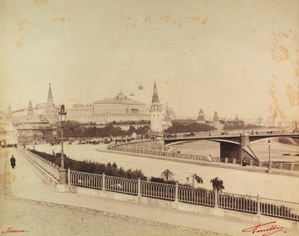 Кремль со старым Москворецким мостом. 1890
