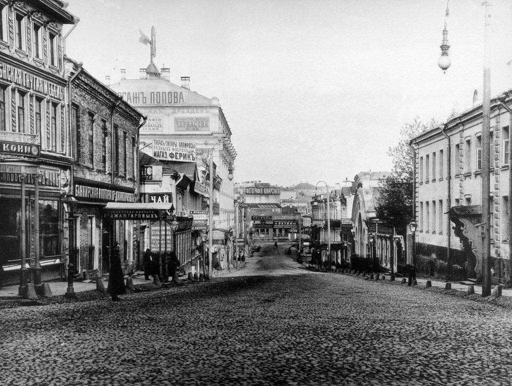 Кузнецкий мост от улицы Рождественки. 1888