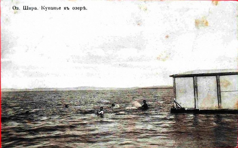 Купанье в озере