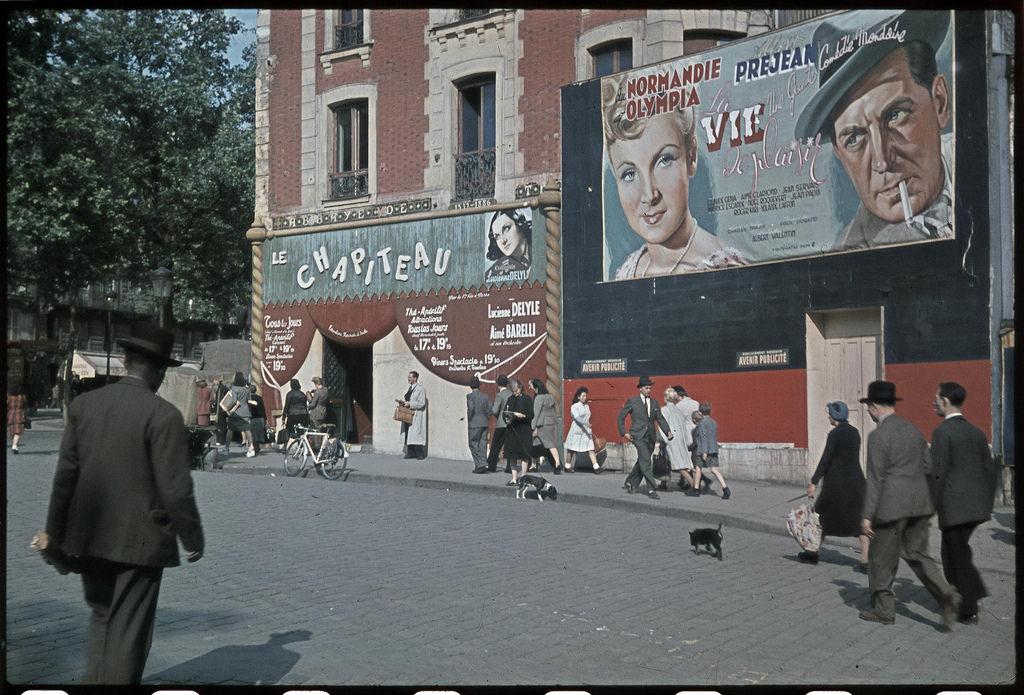 Кинотеатр на площади Пигаль. Фильм «Приятная жизнь», май