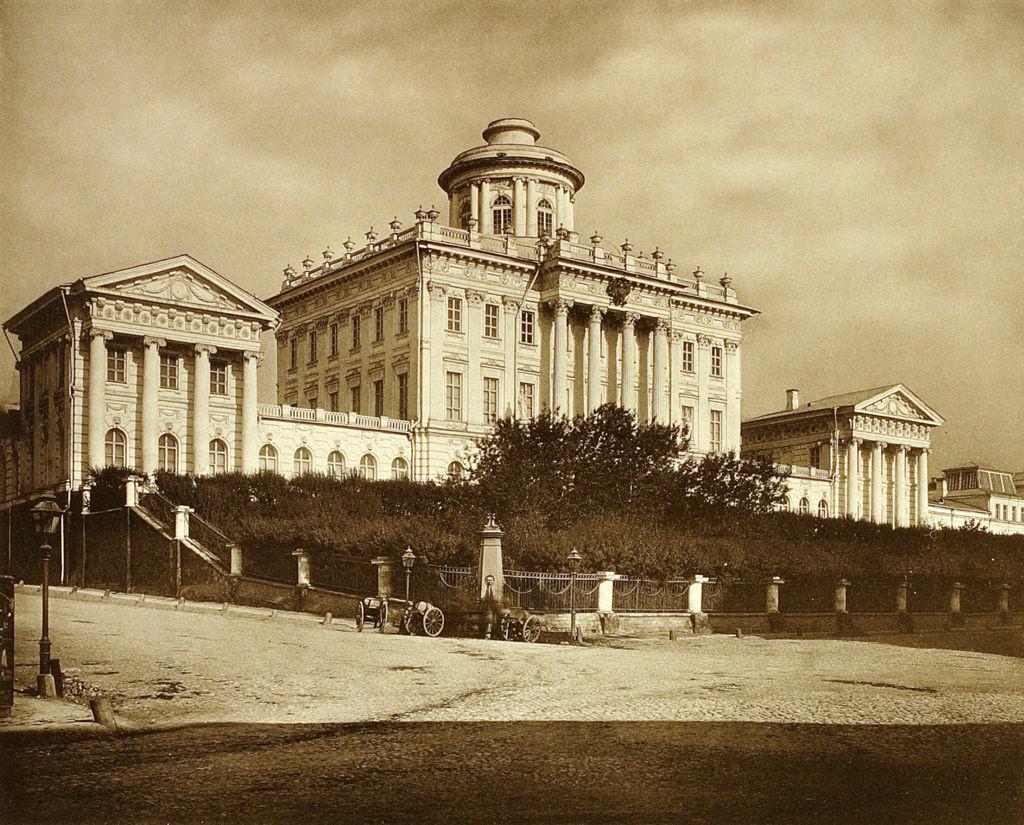 Румянцевский музей (бывший дом Пашкова) на Моховой и Знаменке. 1883