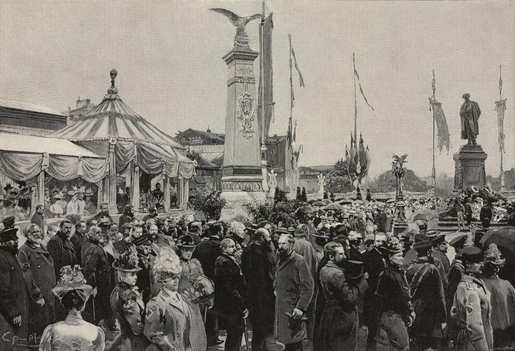 Пушкинский юбилей в Москве, 1899 г. Тверской бульвар.
