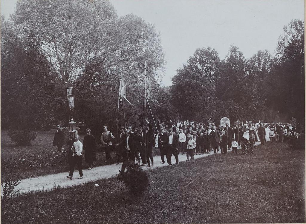 1913. Остафьево. Крестный ход 15 июля 1913