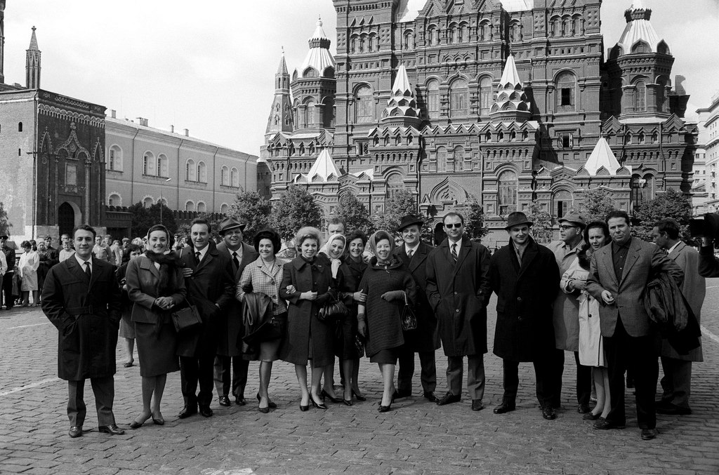 Артисты театра Ла-Скала на Красной площади.