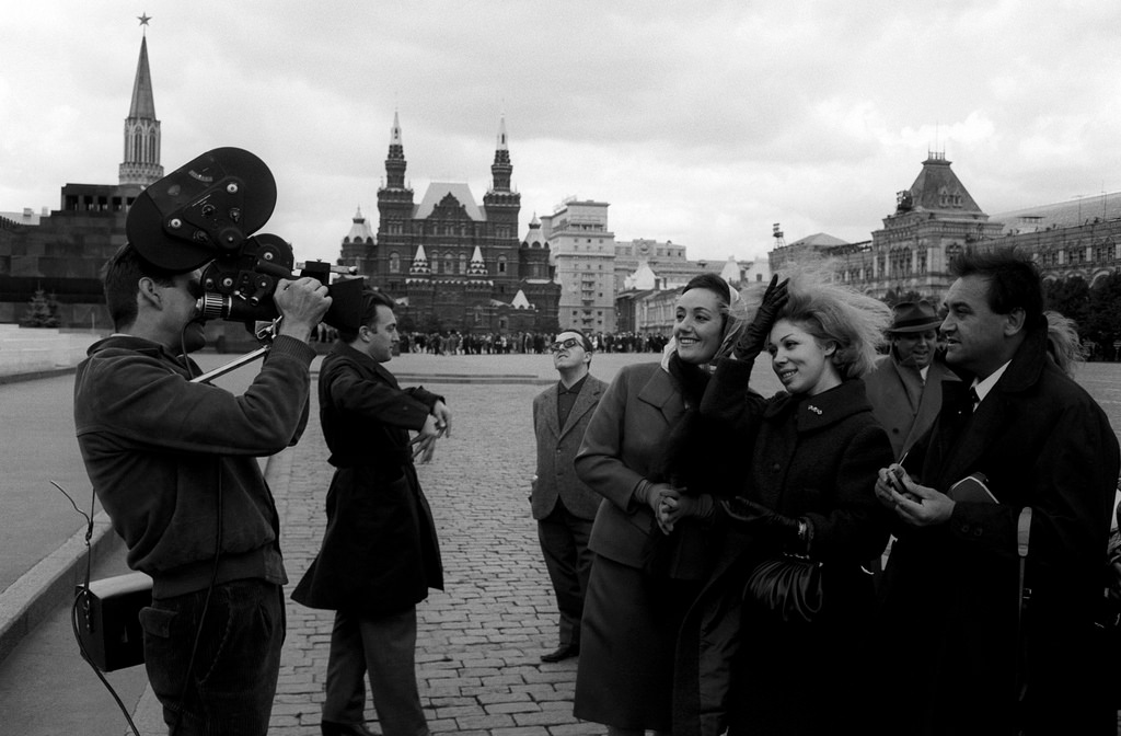 Эдда Винченци, Марчелла Френи и Иво Винко на Красной площади