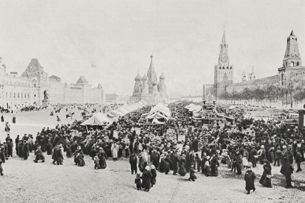 Вербное воскресенье на Красной площади. 1905