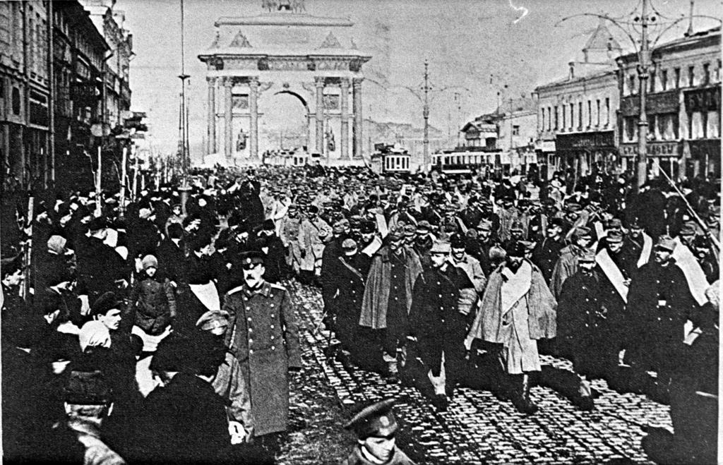 Германские военнопленные на Тверской-Ямской улице, 1915