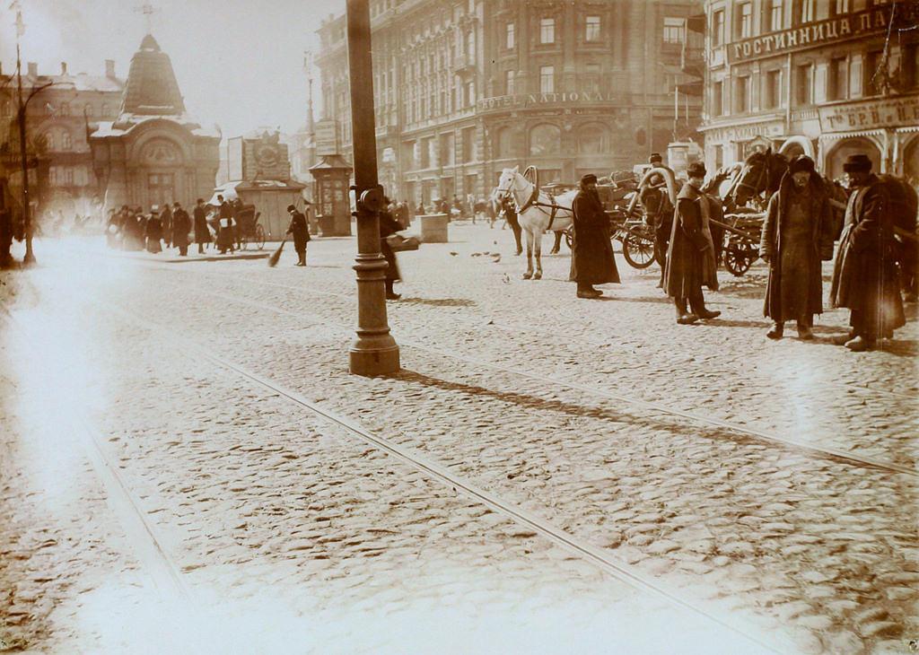 Улица Охотный Ряд. 16 марта 1911 года