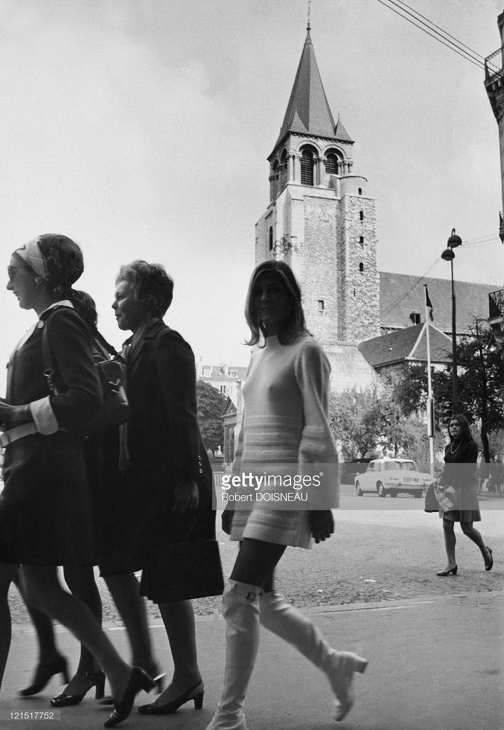 1969. Портрет Мари Гишар в квартале Сен-Жермен-де-Пре