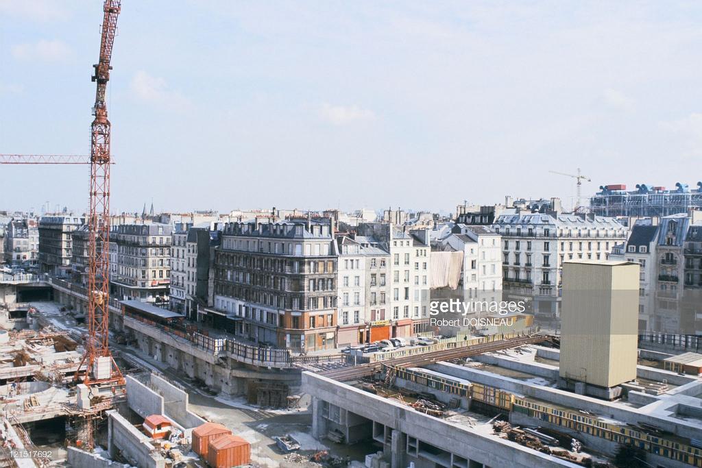 1975. Реконструкция Ле-Аль. Париж