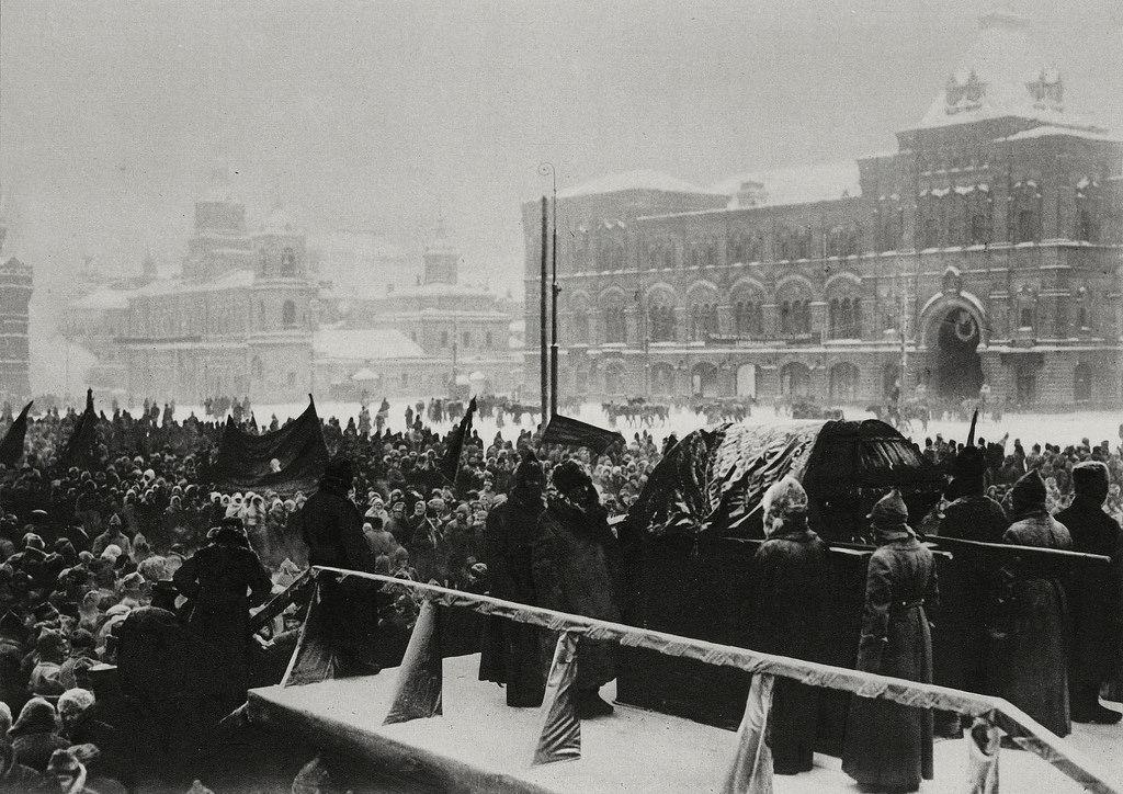 1924. 26 января. Похороны Ленина на Красной площади
