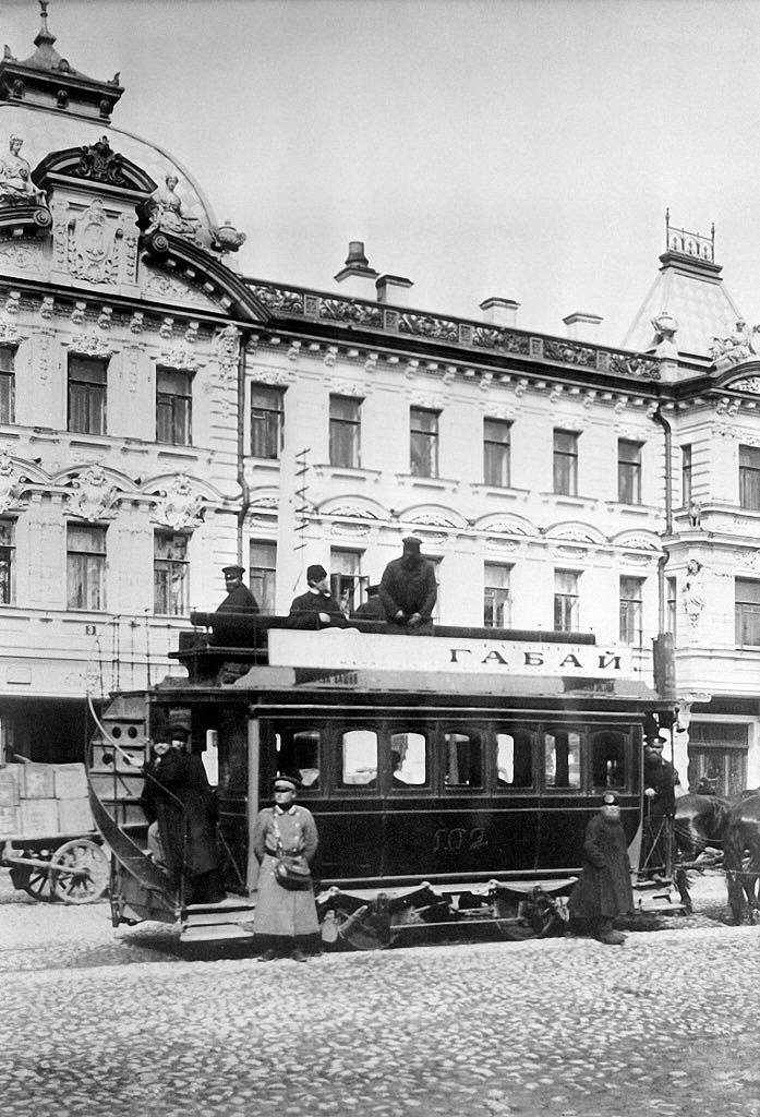Конка на Первой Мещанской улице