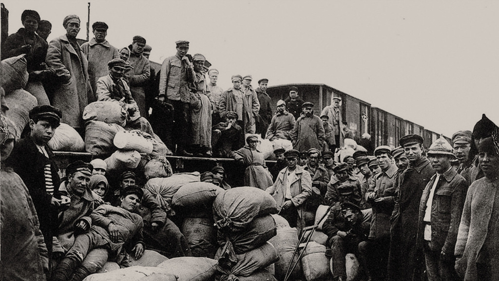 1918. Продотряд отправляется в Тамбов