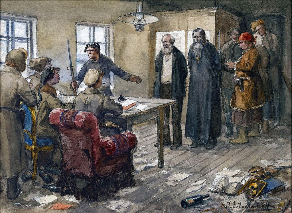 1919. Помещик и поп приговариваются к смертной казни революционным трибуналом (Валдай)
