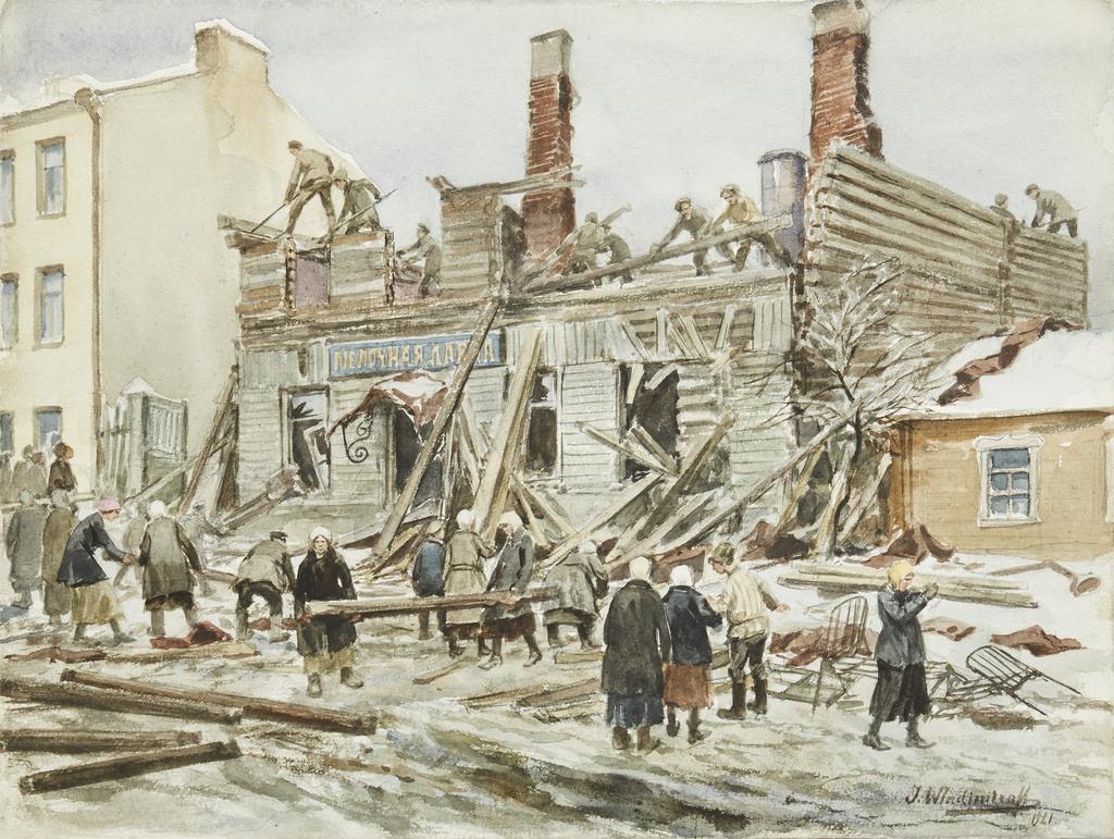 1920. Разбор магазина на дрова