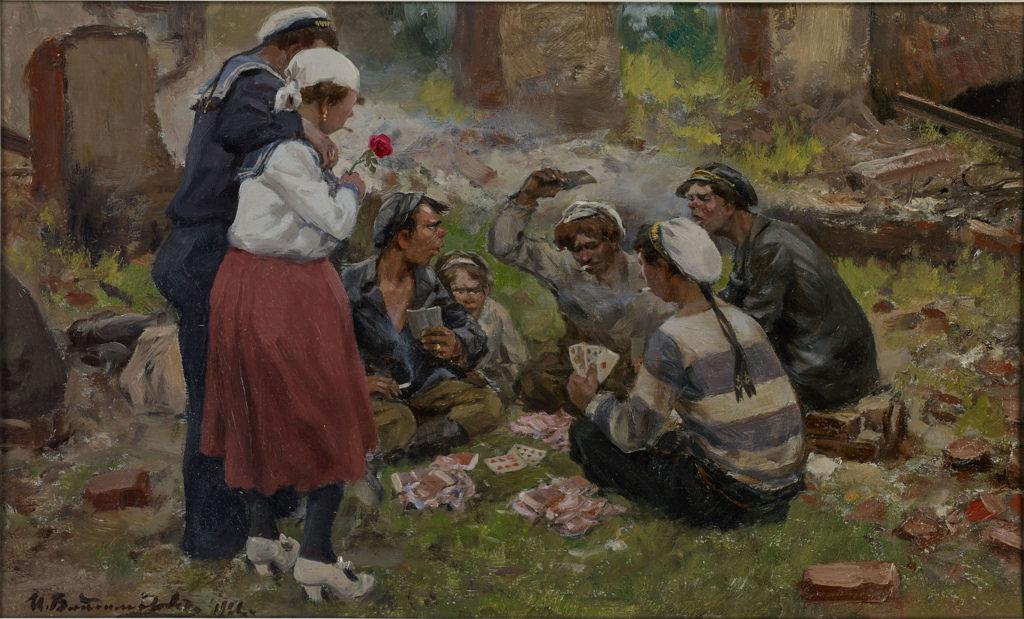 1921. Матросы, играющие в карты