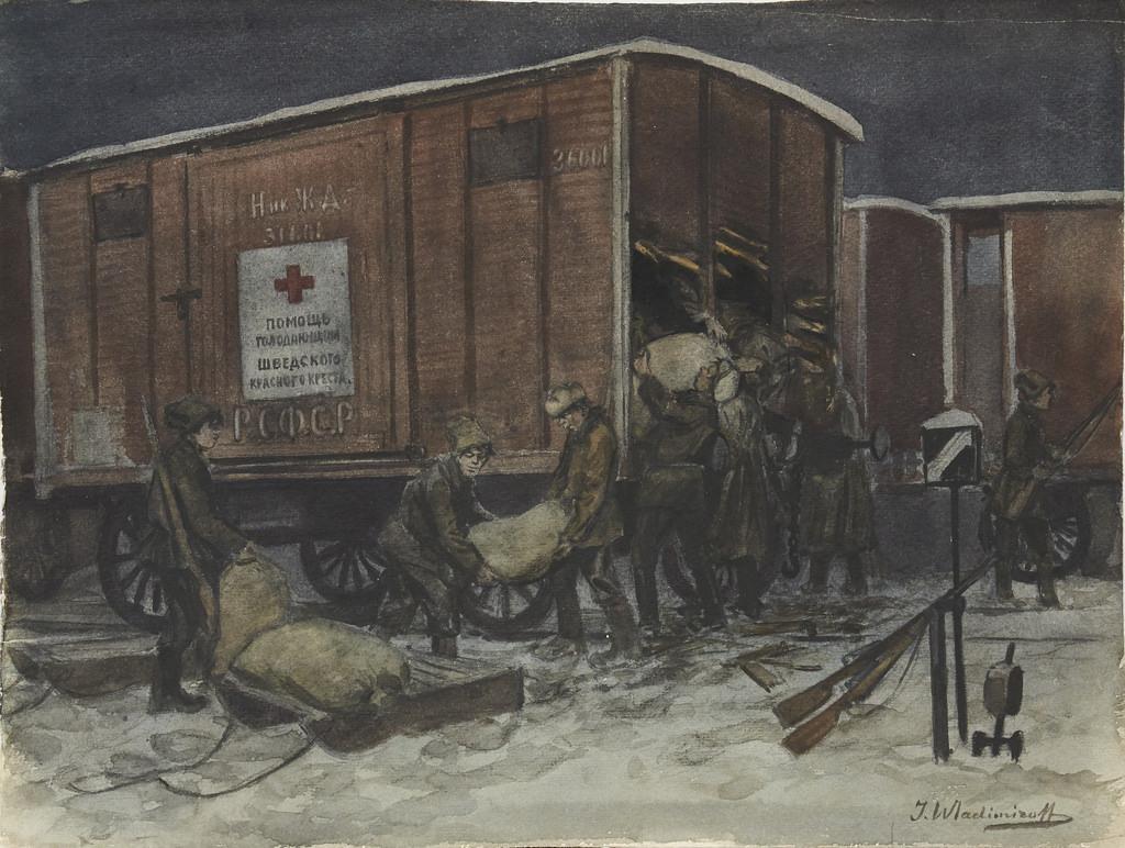 1922. Разграбление вагона с помощью от шведского Красного Креста